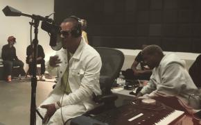 """Registro dos bastidores da gravação da faixa """"Ye Vs. The World"""" do Kanye West com T.I. é divulgado na web"""