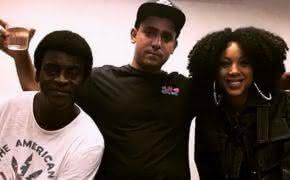 Negra Li e Seu Jorge estiveram juntos no estúdio