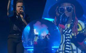 Imagine Dragons e Lil Wayne performam juntos na final da College Football
