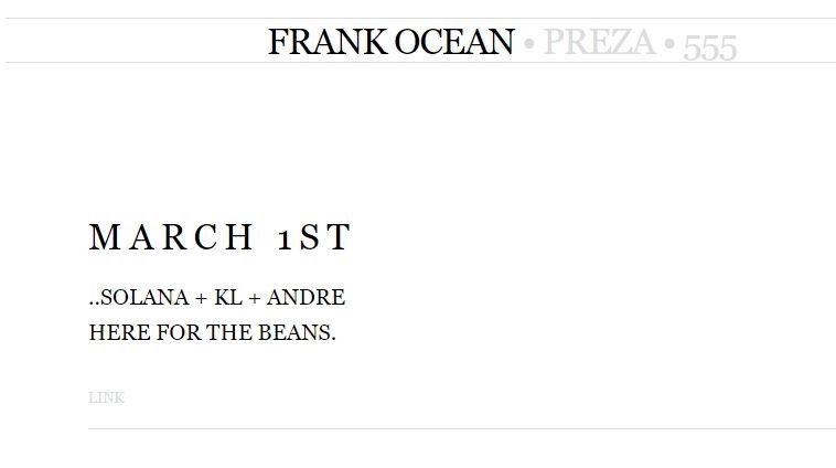 SÓ OS GRANDES: Frank Ocean insinua projeto com Kendrick Lamar, SZA e Andre 3000 já com data de lançamento