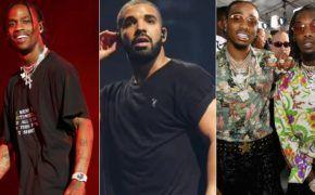 Travis Scott traz Drake, Quavo e Offset para show em Los Angeles