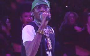 Soulja Boy performa no show do intervalo dos Clippers na NBA
