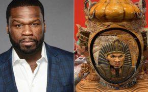 50 Cent diz que advogado quebrou seu icônico vaso em que aparece retratado como faraó
