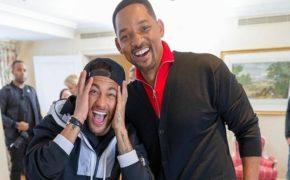 Neymar se encontra com Will Smith pela primeira vez na França