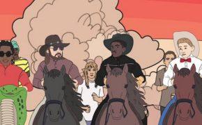 "Lil Nas X, Young Thug, Billy Ray Cyrus e Mason Ramsey invadem a Área 51 a cavalo em vídeo animado oficial do remix de ""Old Town Road"""