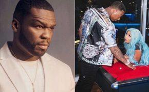 """50 Cent pede perdão ao MoneyBagg Yo por piada em foto dele com Megan Thee Stallion: """"não sabia que era ela"""""""