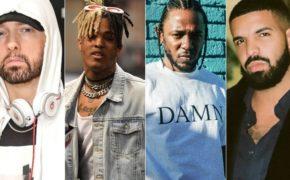 Lista dos artistas masculinos mais ouvidos na história do Spotify é divulgada com Eminem, XXXTentacion, Kendrick Lamar, Drake e mais