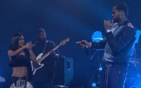 "Dave East e Teyana Taylor performam a faixa ""Need A Sign"" no The Late Late Show"