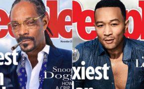 """Snoop Dogg brinca com John Legend reivindicando título de """"homem mais sexy do mundo"""""""