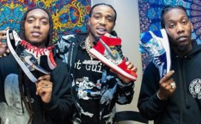 "Integrantes do Migos ganham novos Jordans customizados inspirados na estética do hit ""Stir Fry"""