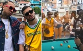 Kevinho e Tyga gravam  videoclipe de nova parceria musical em morro carioca