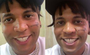 BC Raff tatua o nome da sua esposa Tayara no rosto